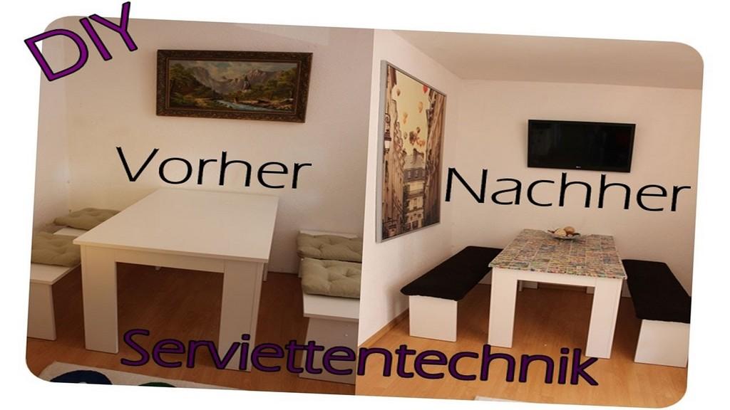 Diy Ganz Einfach Esstisch Mit Serviettentechnik Verschnern pertaining to sizing 1280 X 720