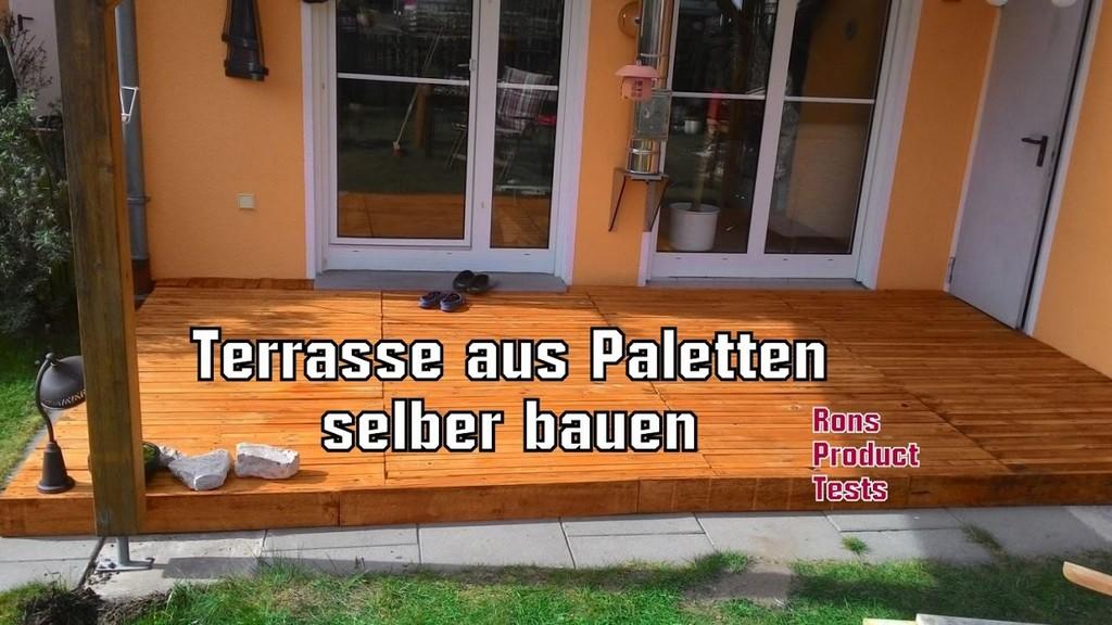 Diy Holz Terrasse Aus Paletten Selber Bauen Schritt Fr Schritt with regard to size 1280 X 720