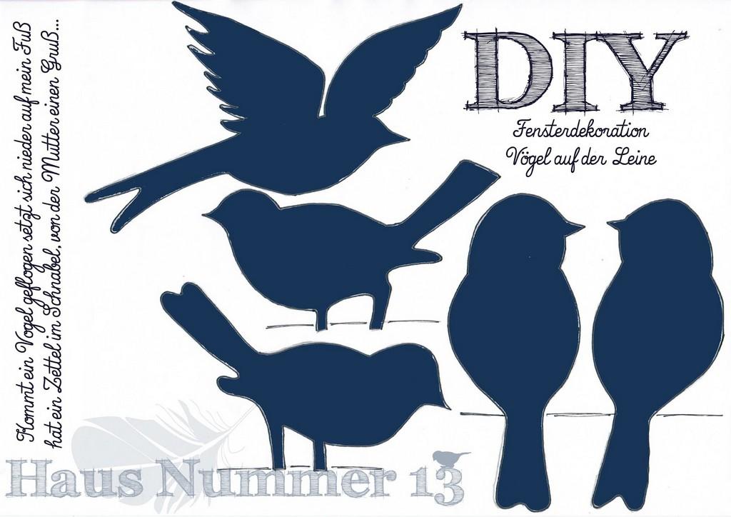 Diy Kommt Ein Vogel Geflogen Fensterdeko Fr Den Frhling for sizing 1600 X 1131