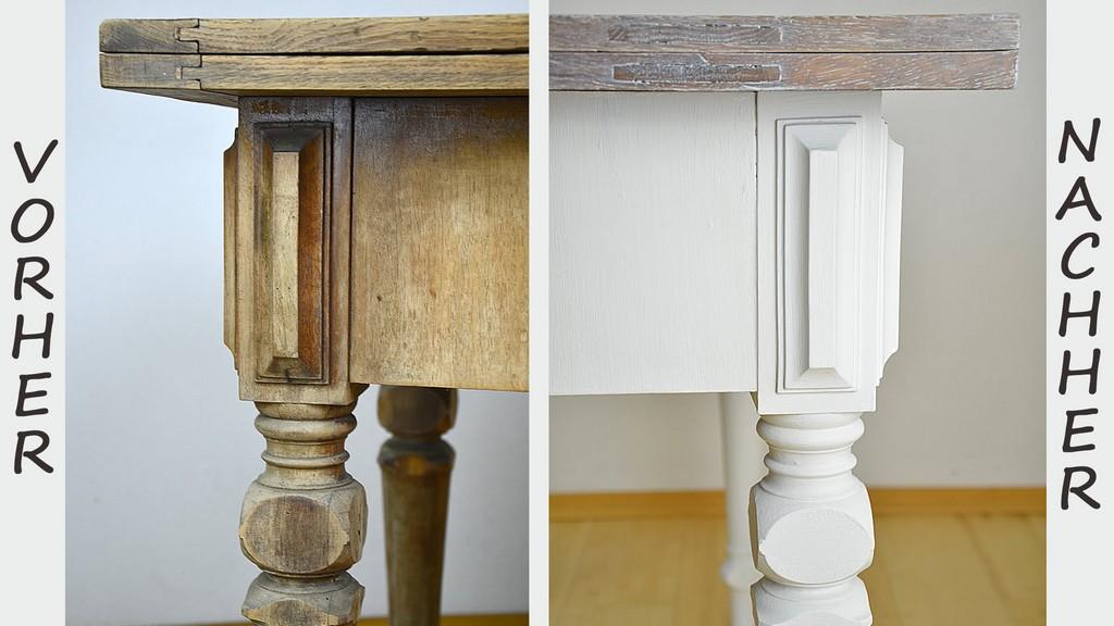 Diy Tisch Im Shab Chic Stil Streichenwisch Oder Lasurtechnik inside sizing 1920 X 1080