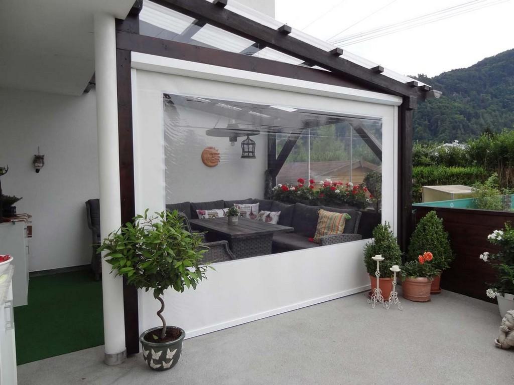 Durchsichtige Wetterschutzrollos Fr Terrassen Und Loggien with proportions 1200 X 900