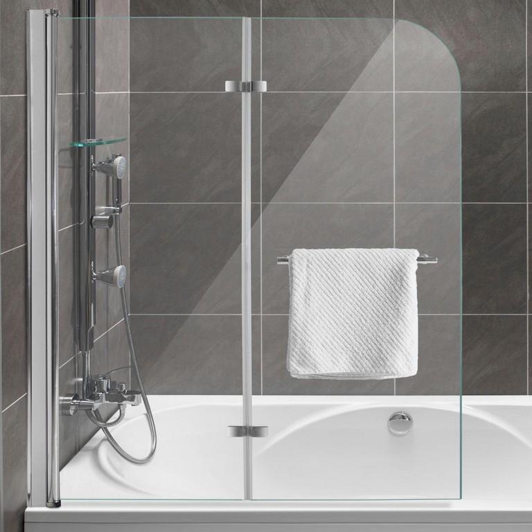 Duschabtrennung Dusche Badewannenaufsatz Faltwand Duschwand Glaswand for proportions 1280 X 1280