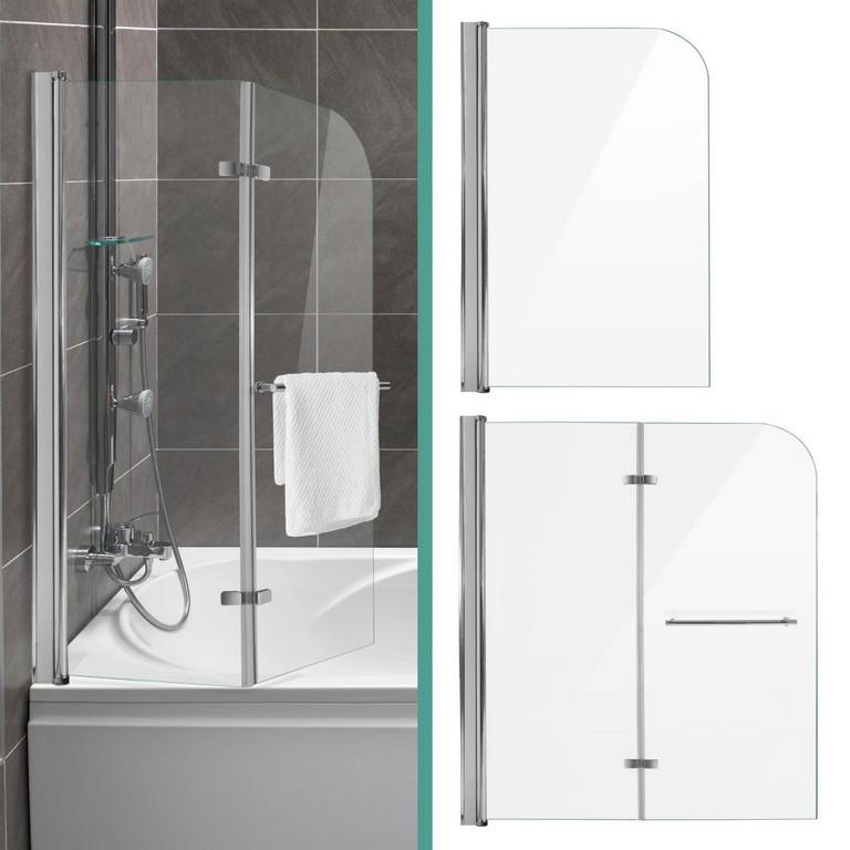 Duschabtrennung Dusche Badewannenaufsatz Faltwand Duschwand Glaswand pertaining to sizing 1280 X 1280