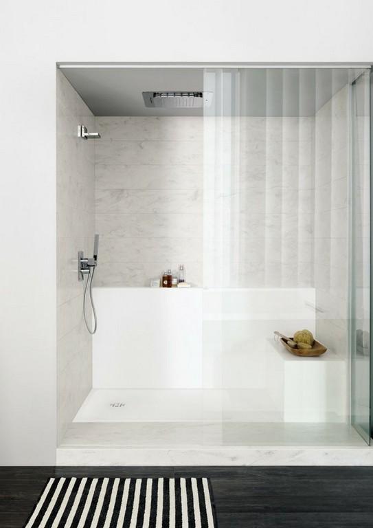 Dusche Corian Duschwanne Ablagefach Spritzschutz Badezimmer for sizing 750 X 1060