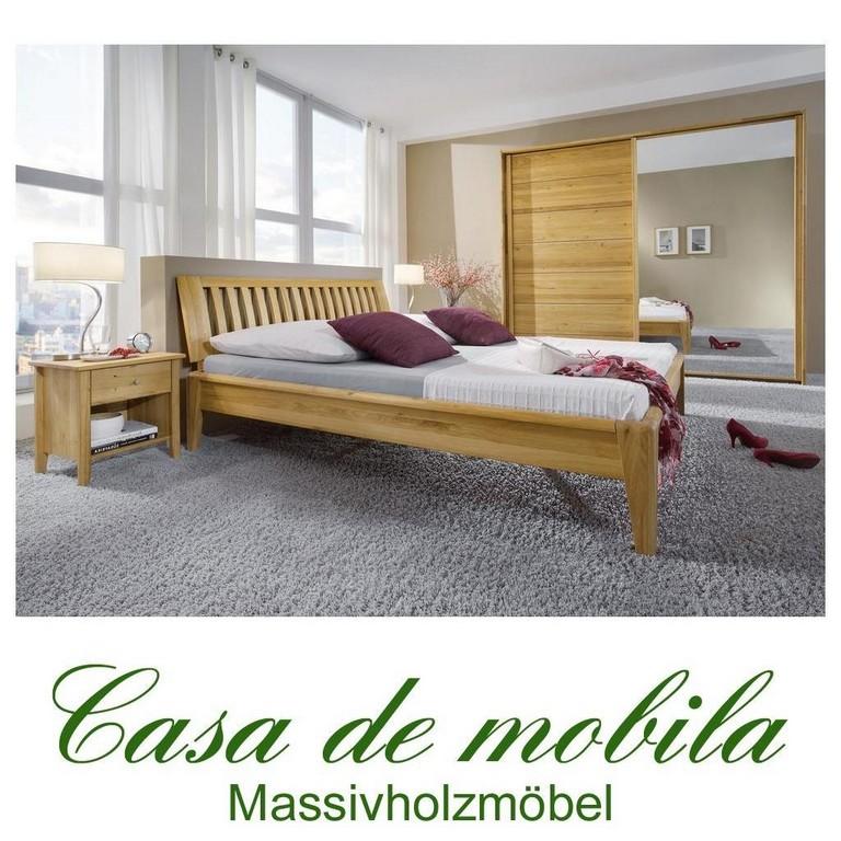 Echtholz Schlafzimmer Komplett Wildeiche Massiv Gelt Sara I Bett for proportions 1024 X 1024