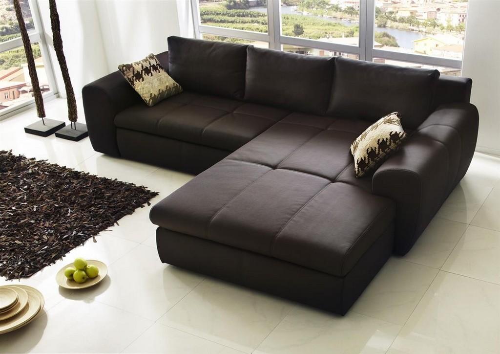 Ecksofa Casa Lederimitat Braun Sofa Outlet for sizing 1200 X 848