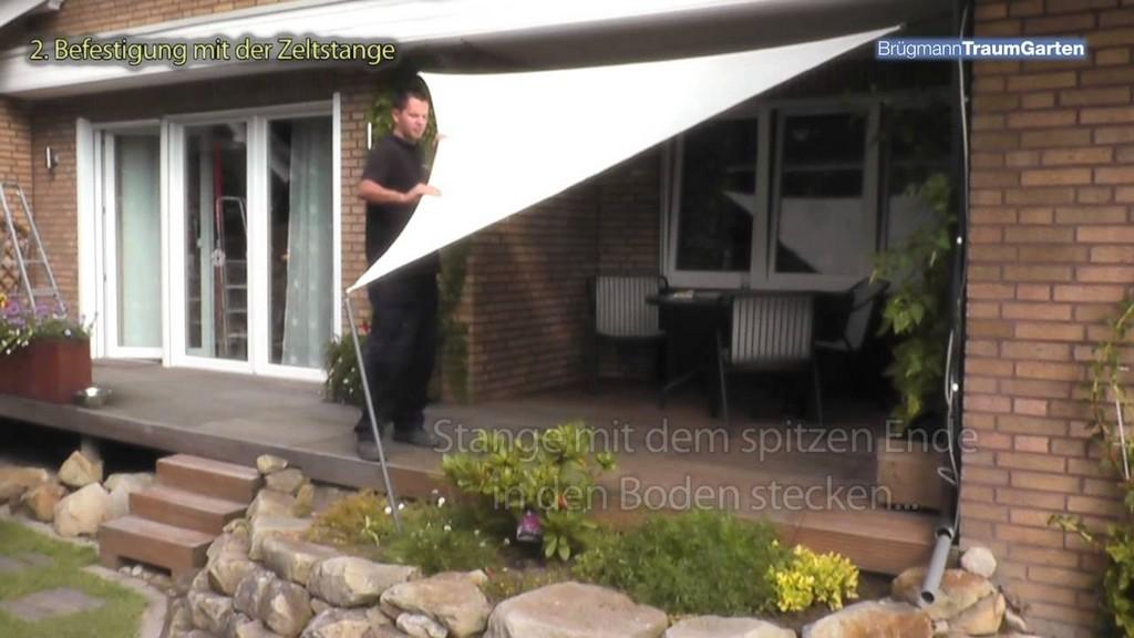 Ein Sonnensegel Von Brgmann Traumgarten Auf Der Terrasse Montieren with dimensions 1280 X 720