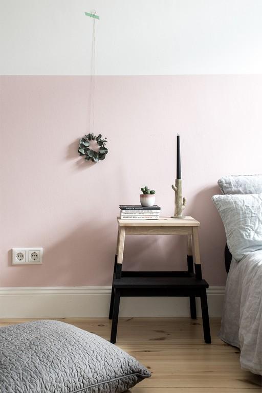 Eine Rosa Wand Fr Das Schlafzimmer Neue Bettwsche Aus Leinen for proportions 1000 X 1500