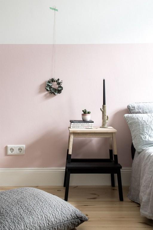 Eine Rosa Wand Fr Das Schlafzimmer Neue Bettwsche Aus Leinen within size 1000 X 1500