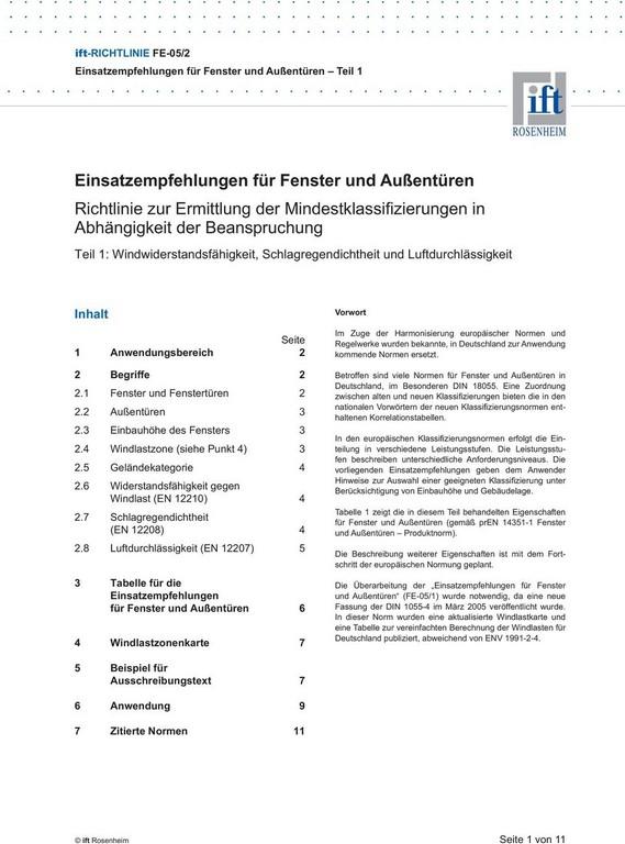 Einsatzempfehlungen Fr Fenster Und Auentren Pdf in size 960 X 1295