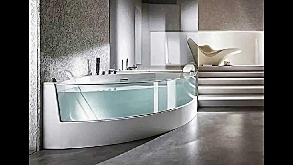 Ergonomische Eck Badewanne Mit Dusche Und Whirlpool Funktion Von with size 1280 X 720