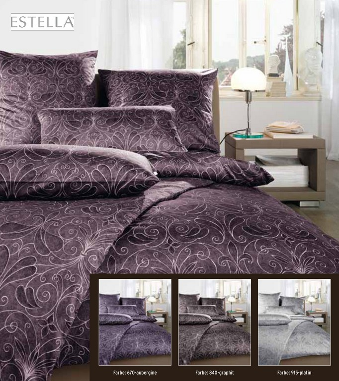 Estella Satin Bettwsche 200x200 200x220 Oder 240x220 In Graphit with sizing 1984 X 2233