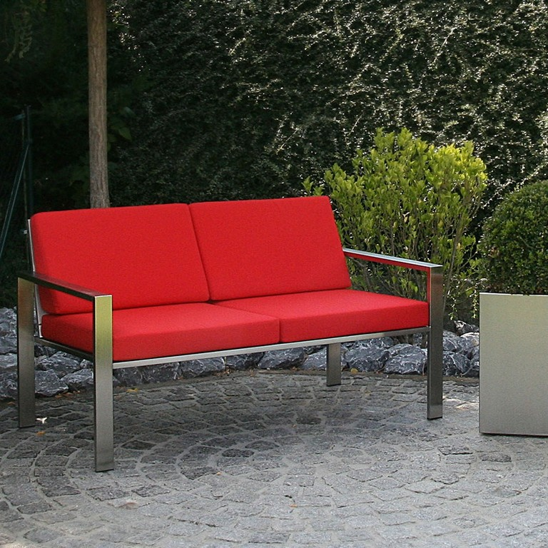 Exklusives 2 Sitzer Lounge Sofa Aus Edelstahl throughout size 1181 X 1181