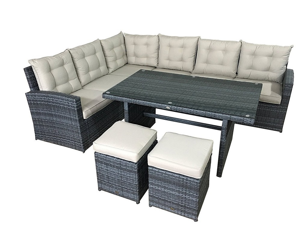 Fein Lounge Set Garten Texas 4 Teilig Polyrattan Grau Jysk with regard to sizing 1500 X 1125