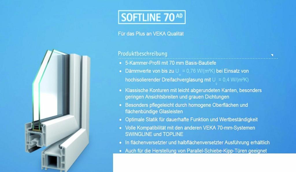 Fenster Veka Softline Mit Beschladsystem Von Roto regarding proportions 2480 X 1442