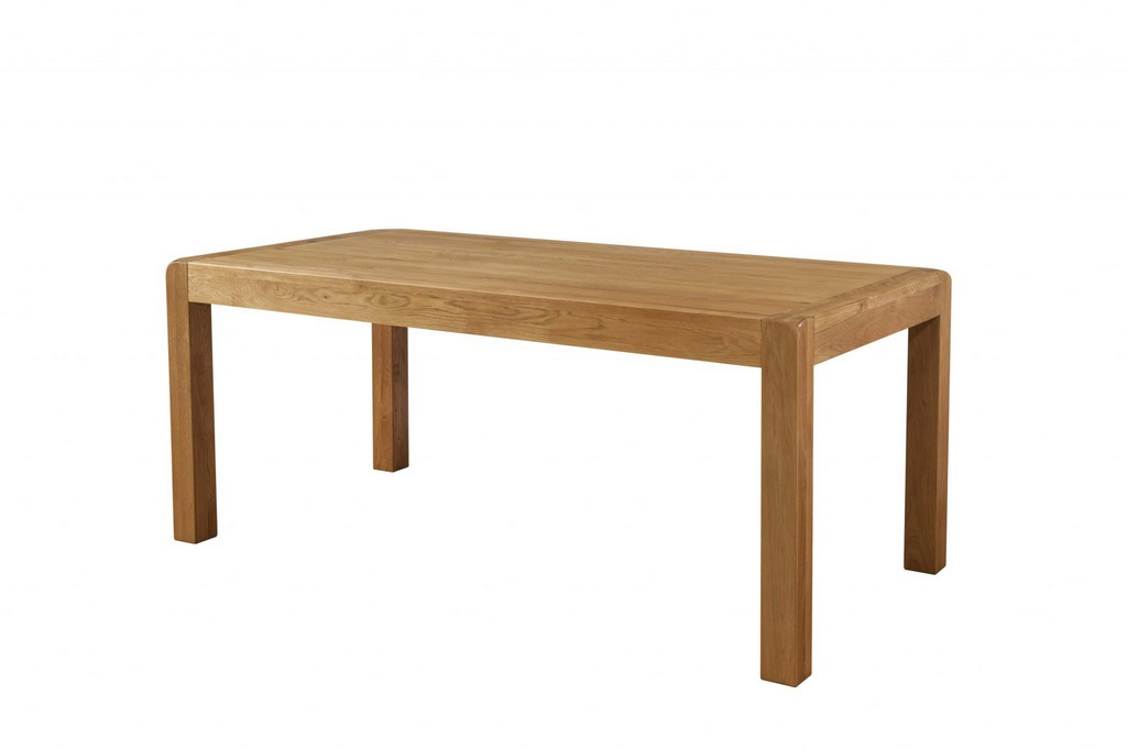 Fixed Top Dining Table 180 X 90 Avon Oak Range Dandys Furniture in dimensions 2048 X 1365