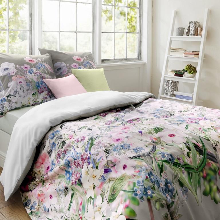 Fleuresse Bed Art S Multicolor Silberne Mako Satin Bettwsche Mit pertaining to measurements 1200 X 1200