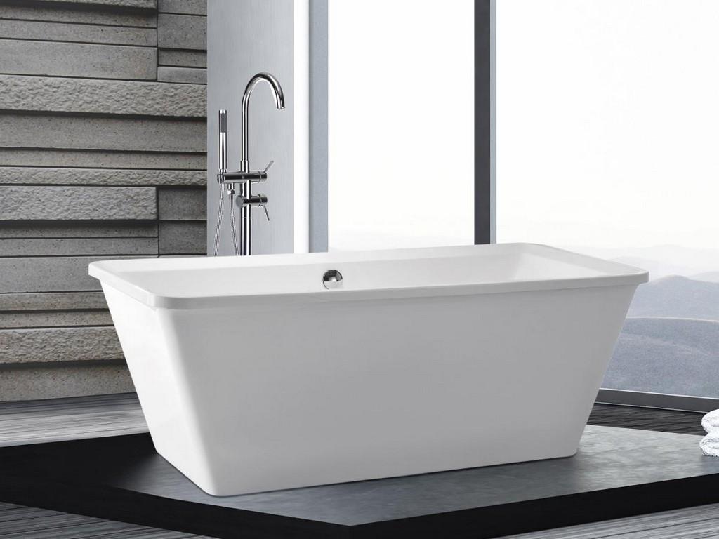 Freistehende Badewanne Amsterdam Rechteckig Luxus Acryl Wanne Fr throughout measurements 1200 X 900