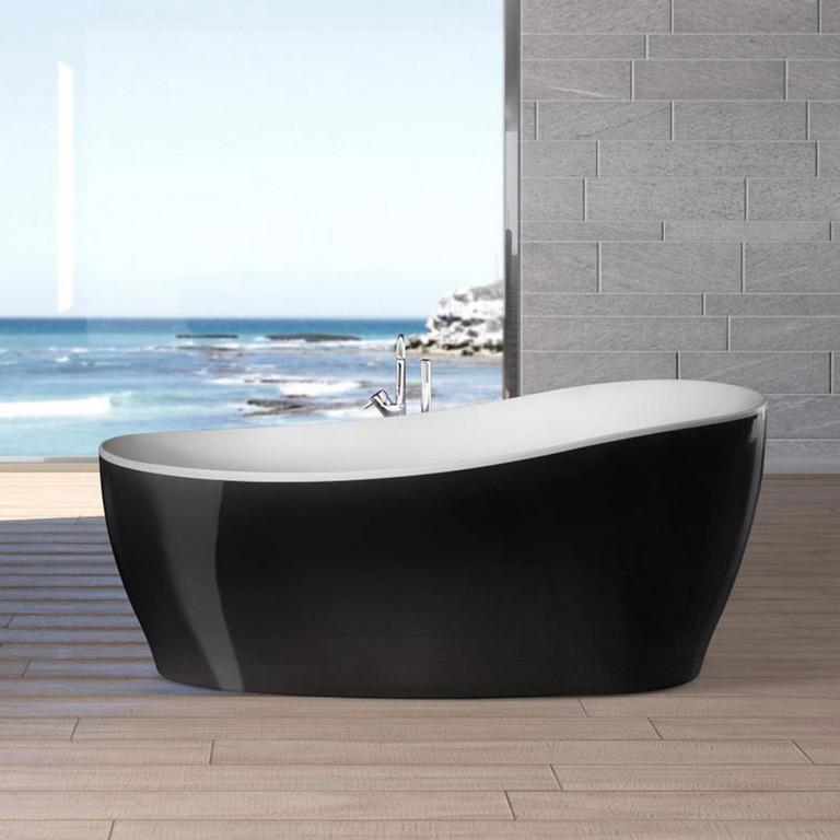 Freistehende Badewanne Aviva 180 Cm X 85 Cm Schwarz Wei Kaufen Bei Obi regarding size 1500 X 1500