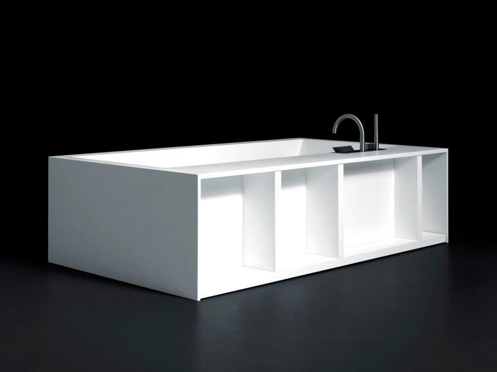 Freistehende Badewanne Holz Kunststoff Swim C Boffi pertaining to proportions 1200 X 899