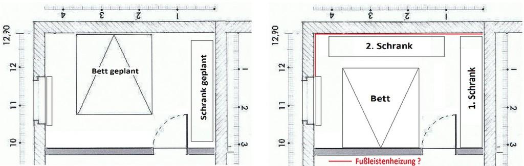 Fuleistenheizung Gegen Schimmel Hinter Schrank An Auenwand throughout sizing 1900 X 603