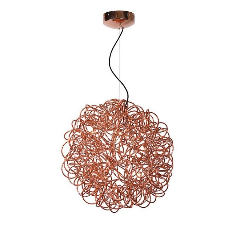 Galileo Pendelleuchte Draht Kugel 50 Cm Kupfer Lt Lighting with sizing 1023 X 1024