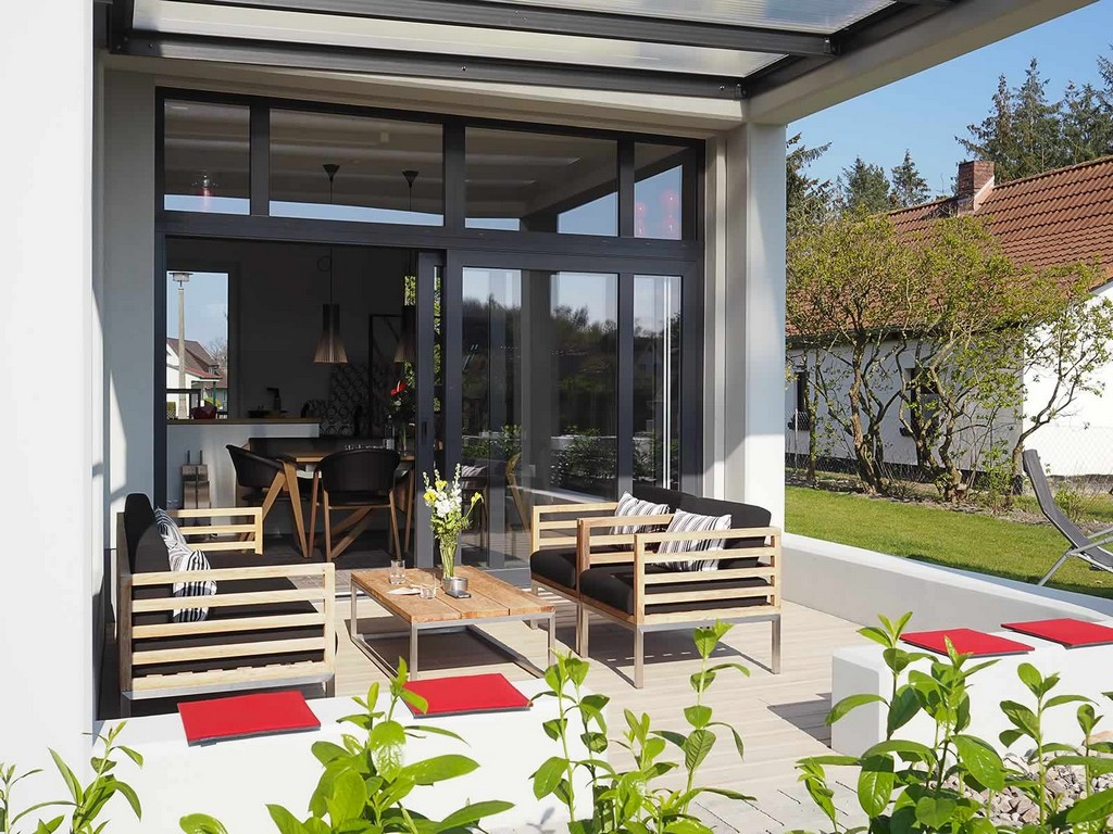 Gallery Of Berdachte Terrasse Und Sonnige Fr Hst Cksterrasse pertaining to sizing 1600 X 1200