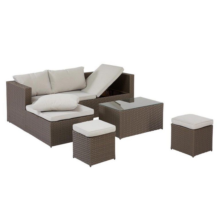 Garten Lounge Set Texas 4 Teilig Braun Dnisches Bettenlager regarding sizing 960 X 960