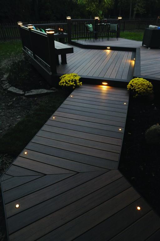 Gartengestaltung Licht Lampen Weg Holzsteg Terrasse throughout size 2832 X 4256