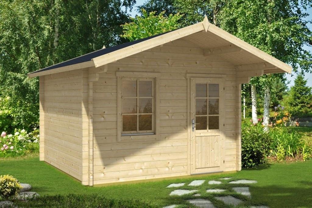 Gartenhaus Mit Vordach Oslo 105m 44mm 3x3 Hansagarten24 with proportions 1200 X 800