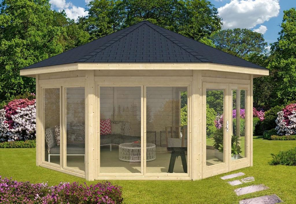 Gartenpavillon Aus Holz Kaufen Gartenlauben Vom Fachmann regarding measurements 1600 X 1100