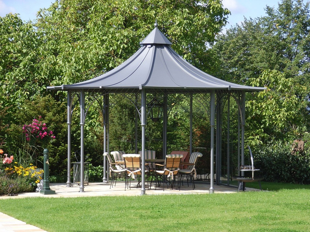 Gartenpavillon Aus Metall Mit Dach Von Matt Pavillons Garten with regard to proportions 2816 X 2112