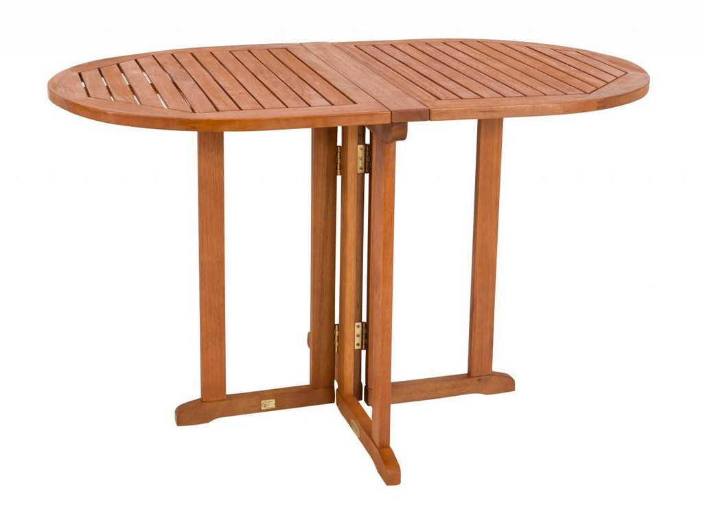 Gartentisch Balkontisch Klappbar 120 X 70 Cm Oval Aus Eukalyptus inside proportions 1280 X 960