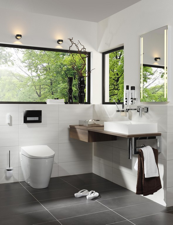 Gste Wc Modern Und Zeitlos Gehalten Mit Unserem Lichtspiegel Palma with regard to proportions 3708 X 4825