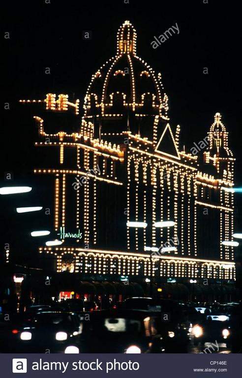 Harrods Nacht Beleuchtung London England Uk Beleuchtung Beleuchtet inside size 890 X 1390