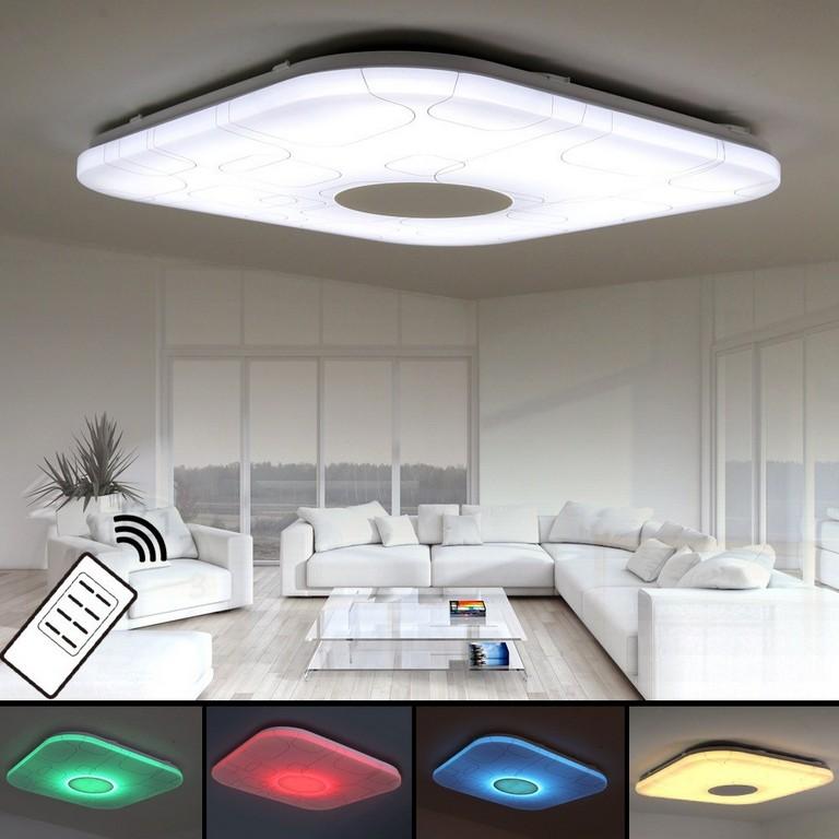 Herrlich Wohnzimmer Led Lampe Lampen Streifen Szenisch Modern pertaining to proportions 1000 X 1000