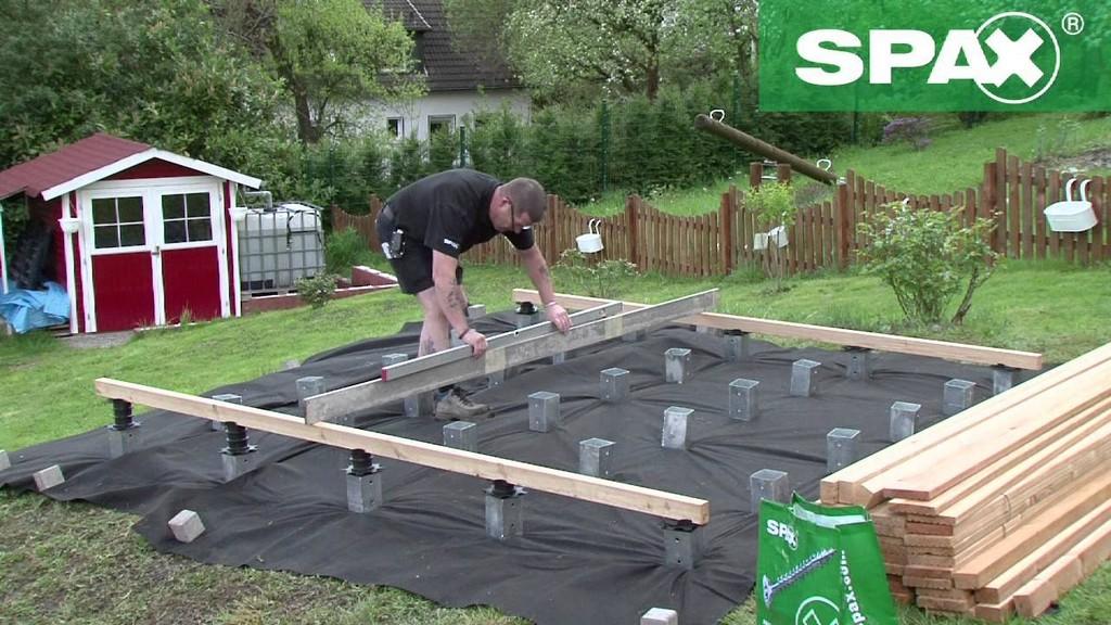 Holzterrasse Mit Hhenverstellbarem Verlegesystem Von Spax Bauen in dimensions 1280 X 720