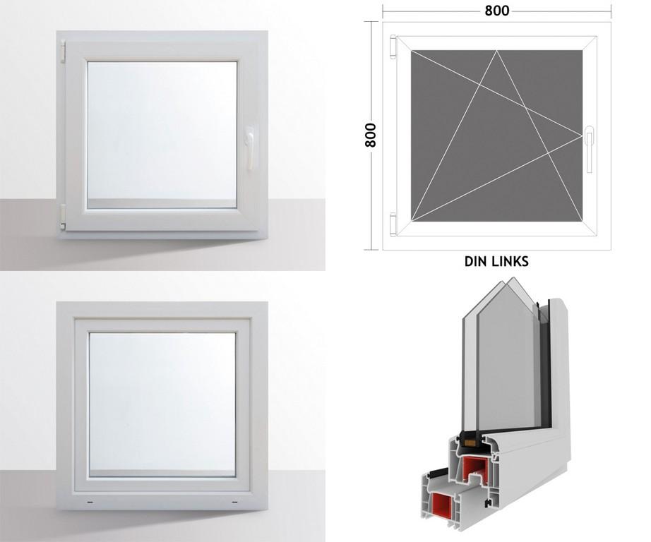 Hori Fenster Kunststoff Dreh Kipp Kellerfenster 2 Fach Verglasung 80 intended for size 1200 X 1000