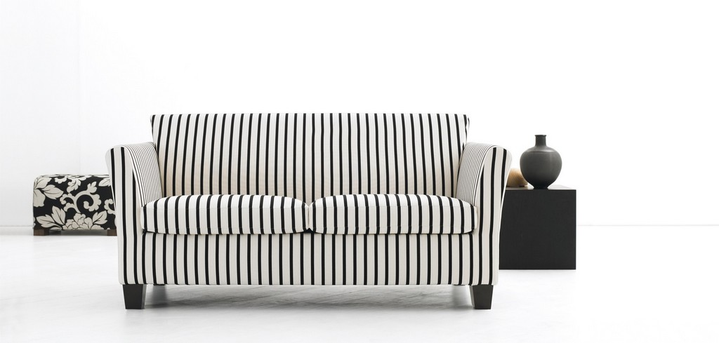 Intricate Schlafsofa Gestreift Sofas Sessel Marktex Sofa Ilaria Blau intended for size 1800 X 860