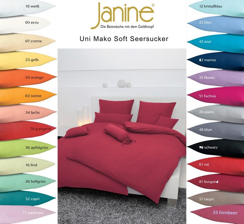 Janine Uni Mako Soft Seersucker Bettwsche 200x200 200x220 240x220 inside proportions 2500 X 2300