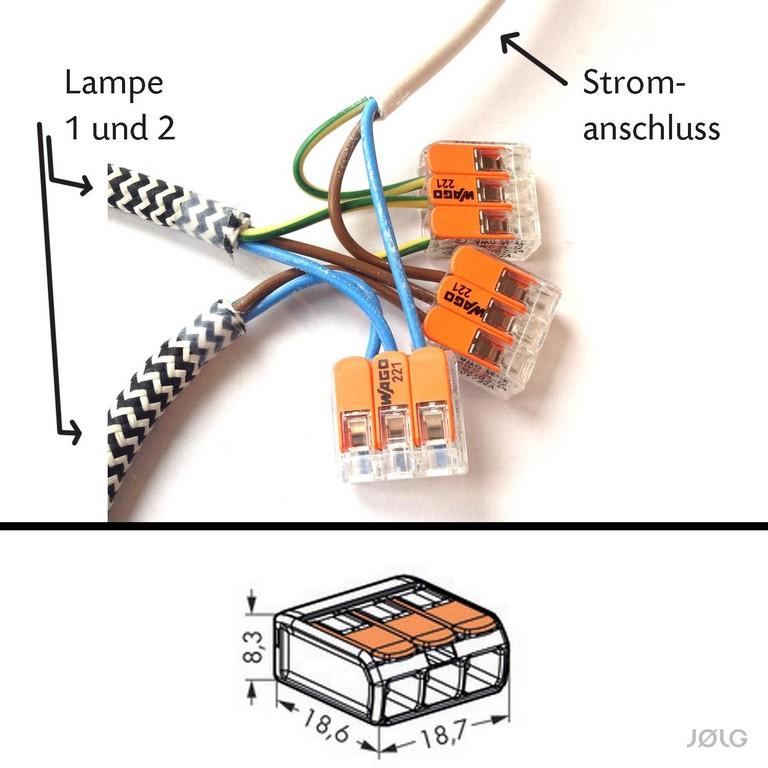 Jlg Tutorial Zwei Oder Mehrere Lampen An Einen Stromanschluss for size 1500 X 1500