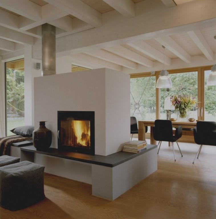 Kamin Im Wohnzimmer Bis Zur Mitte Moderne Huisontwerpideen pertaining to measurements 958 X 970