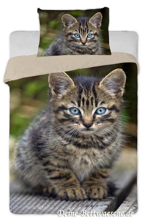 Katzen Bettwsche Tigerle 100 Baumwolle Onlineshop Fr Bettwsche with measurements 900 X 1375