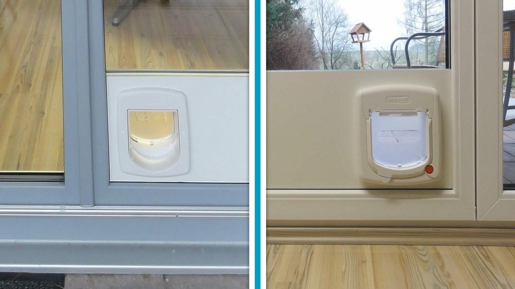 Katzenklappe Einbau Fr Fenster Und Balkontre Glas Voit Gmbh within sizing 1920 X 1080