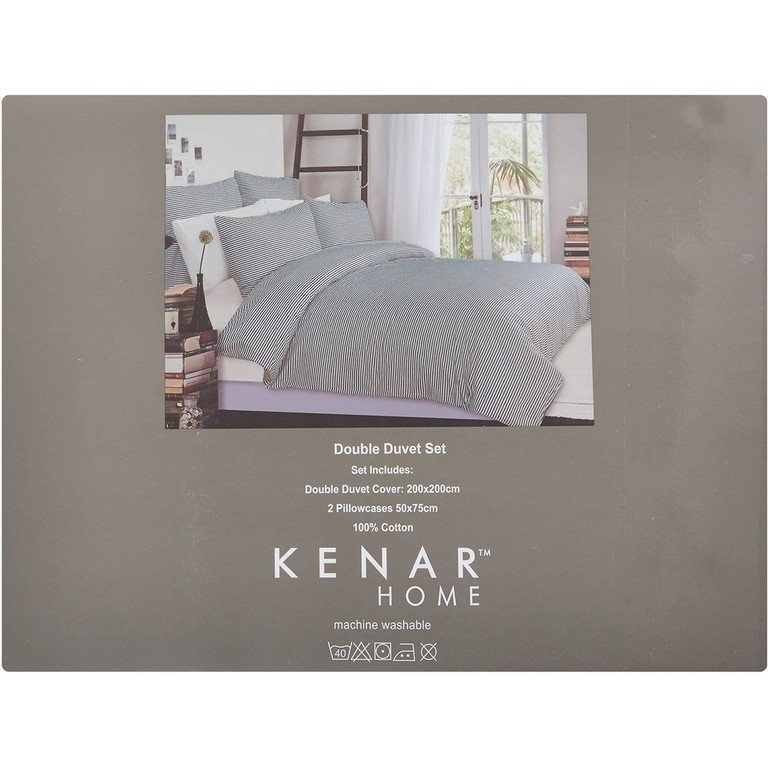 Kenar Home Double Stripe Pattern Duvet Set Tk Maxx Flat regarding proportions 1500 X 1500