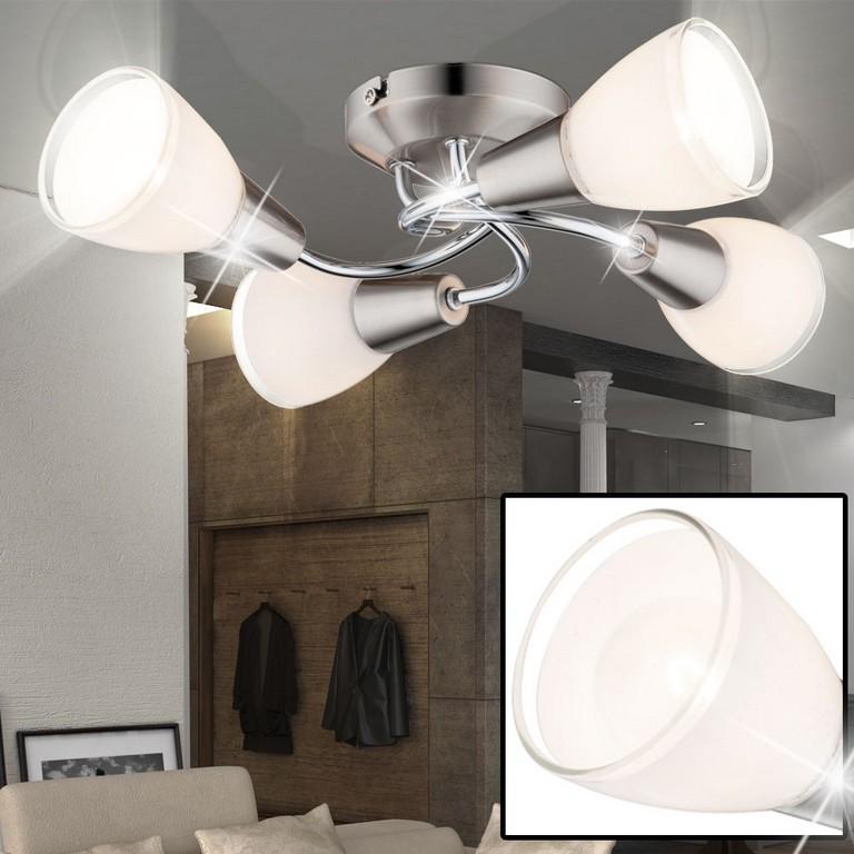 Klassische Decken Lampe Glas Opal Chrom Esszimmer Beleuchtung Rand within measurements 1000 X 1000