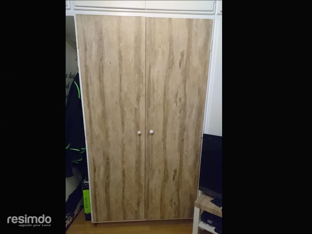 Kleiderschrank Bekleben Folie Holzdekor Resimdo in sizing 1280 X 960
