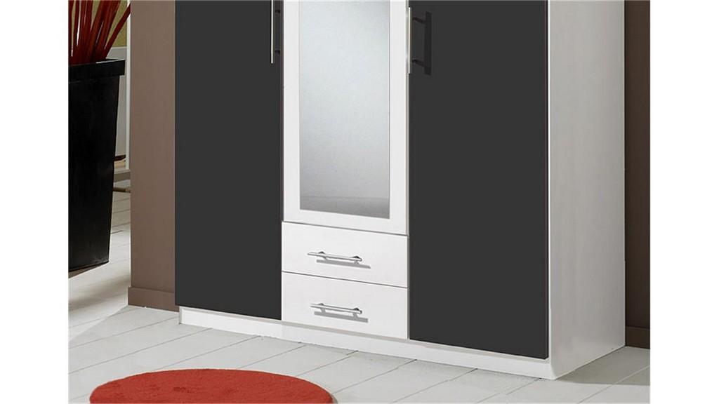 Kleiderschrank Clip Schrank In Wei Und Anthrazit 3 Trig regarding proportions 1500 X 844