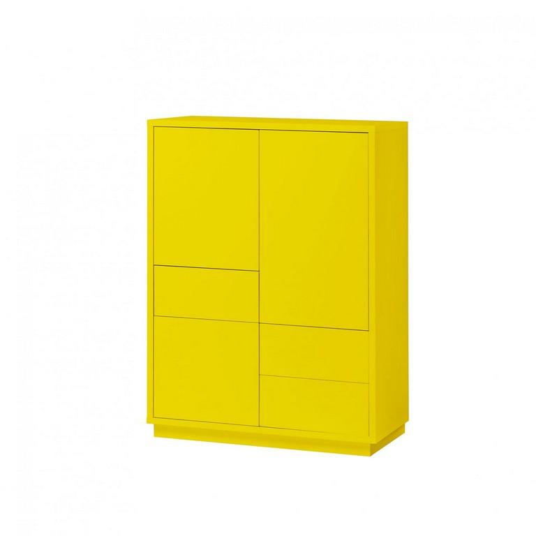 Kommode Gelb Dekor Highboard Anrichte Sideboard Schrank 3 Schubladen within proportions 1800 X 1800