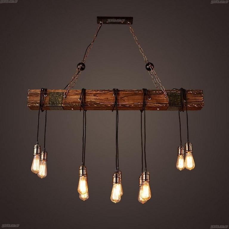 Kronleuchter Seil 3 Flammig Loft Lampe Retro Pendelleuchte Avec inside measurements 1001 X 1001